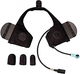 J&M Integrated Headset for Most Shorty Style/Half Helmet