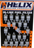 Helix Racing Products Fuel Filter 1/4in. with Display Card