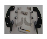 Memphis Shades Trigger-Lock Mount Kit for Batwing Fairing - Black [Warehouse Deal]