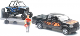 New Ray Toys 1:18 Scale Pick Up and Trailer with Polaris RZR 1000XP