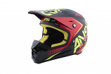 Answer SNX 2 Graphics Youth Helmet (Flo Red/Black/ACI / Lg) [Warehouse Deal]