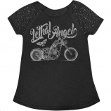 Lethal Threat Motorcycle Scoop Neck Womens Shirts