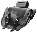 Willie & Max Gray Thunder Braided Compact Slant Saddlebags [Warehouse Deal]