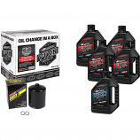 Maxima Sportster Synthetic Oil Change Kit with Black Filter