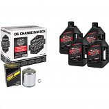Maxima Twin Cam Synthetic Quick Oil Change Kit with Chrome Filter