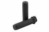 Brass Balls Cycles Ribbed Leather Moto Grips