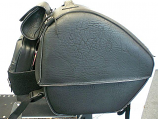 All American Rider Large Trunk Rack Bag - Studded [Warehouse Deal]