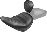 Mustang Standard Touring Seat with Backrest for Softail - Black [Warehouse Deal]