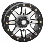 STI HD9 Complock Beadlock Wheel - 14x10 - 4/156 Bolt Pattern - 5+5 Offset - Matte Black [Warehouse Deal]