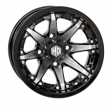 STI HD10 Alloy Rear Wheel - 12x7 - 2+5 Offset - 4/110 - Machined with Gloss Black [Warehouse Deal]