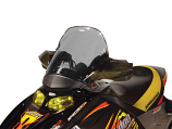 Powermadd Cobra Windshield - 14.5in. - Fairing Mount - Tint/Black [Warehouse Deal]
