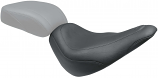 Mustang Wide Tripper Solo Seat - Smooth - Black [Warehouse Deal]