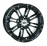 STI HD3 Alloy Wheel - 12x7 - 4+3 Offset - 4/156 - Gloss Black/Machined [Warehouse Deal]