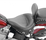 Mustang Wide Touring Studded Solo Seat with Driver Backrest