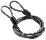 Bully Locks 3/8in. x 7ft. Straight Cable with Double Loop