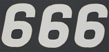 N-Style SX Pros Jr. Stick-On Number