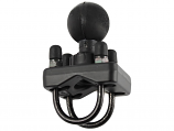 Ram Mounts RAM Double U-Bolt Base with 1.5in. Ball for Rails from 1in. to 1.25in, in Diameter