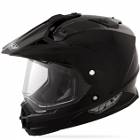 Fly Racing Replacement Double Lens Electric Shield for Trekker Helmet - Clear