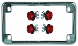 Chris Products License Plate Frame Holders with Reflectors