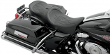 Drag Specialties Low-Profile Touring Seat with EZ Glide I Backrest - Flame Stitch [Less Than Perfect]