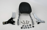 Jardine Complete Touring Billet Backrest and Mounting Kit with 12in x 8in Pad