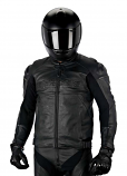 Alpinestars Black Shadow Hades Leather Jacket