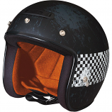 Z1R Jimmy Distressed Checker Helmet