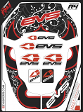 EVS R4 Race Youth Collar Graphics Kit