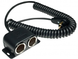 Powerlet Low Profile to Dual Cigarette Socket 24in. Coil Cable