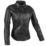 Speed & Strength Black Heart Womens Leather Moto Shirt