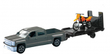 New Ray Toys 1:43 Scale Chevy Truck with Trailer and Dirt Bike