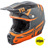Fly Racing F2 Carbon Forge Helmet (Matte Charcoal/Orange/Gray / XL) [Warehouse Deal]