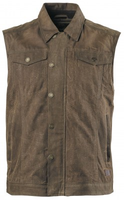 Roland Sands Design Ramone Perforated Waxed Cotton Vests