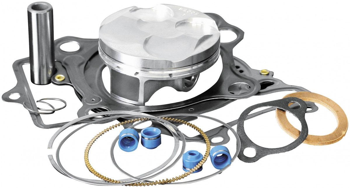 Wiseco PK1227 49.00 mm 9.7:1 Compression Motorcycle Piston Kit with Top-End Gasket Kit