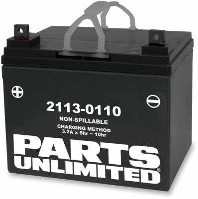 Parts Unlimited AGM Factory Activated Maintenace-Free Battery