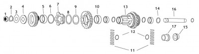 Andrews 1st and 2nd Gear Countershaft Clutch Gear
