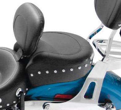 Mustang Wide Touring Studded Recessed Rear Seat