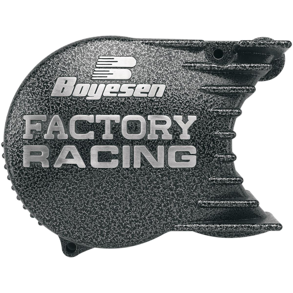 Boyesen Factory Ignition Cover - Silver/Black