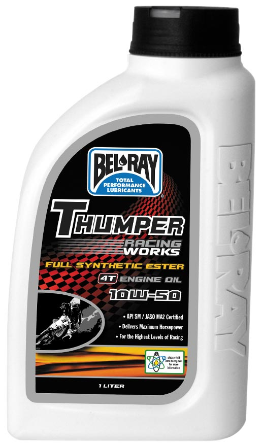 Bel ray thumper racing works full synthetic ester 4t engine oil 2wheel Best price on motor oil